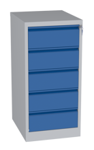 00150467 Szafa kartotekowa na teczki A5 poziome, 2 rzędy, 5 szuflad (wymiary: 1090x525x630 mm)