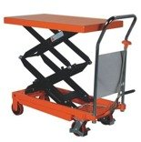 00546097 Wózek paletowy stołowy (udźwig: 350 kg, min./max. wysokość podestu: 355/1300 mm, wymiary platformy: 910x500 mm)