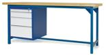 00853647 Stół warsztatowy, 4 szuflady (wymiary: 2100x900x740 mm)