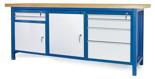 00853673 Stół warsztatowy, 2 drzwi, 6 szuflad (wymiary: 2100x900x740 mm)