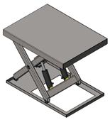 01860194 Podnośnik, podest nożycowy, cylindry ze stali nierdzewnej (udźwig: 2000 kg, wymiary platformy: 1400x1100mm, wysokość podnoszenia min/max: 230-1130 mm, moc: 1,1kW)