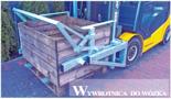 02938357 Wywrotnica skrzyniopalet do wózka, wersja: ocynkowana (udźwig: 450 kg)