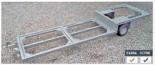 02938382 Wózek sadowniczy trzypaletowy WPS-3W, wersja: ocynkowana (ładowność: 1400 kg)