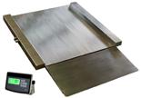 04049010 Waga najazdowa ze stali szlachetnej z legalizacją (nośność: 600 kg, podziałka: 200 g, wymiary: 1250x1500x45 mm)