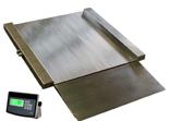 04060422 Waga najazdowa ze stali szlachetnej bez legalizacji (nośność: 150/300kg, podziałka: 50/100g, wymiary: 800x800x45mm)