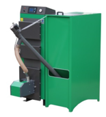 06652767 Kocioł z podajnikiem, automatyczny 20kW z systemem usuwania popiołu (paliwo: pellet, pestki owoców, węgiel, drewno)