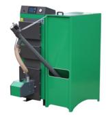 06652768 Kocioł z podajnikiem, automatyczny 25kW z systemem usuwania popiołu (paliwo: pellet, pestki owoców, węgiel, drewno)