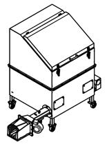 06652828 Automatyczny podajnik do spalania biomasy 1m3 230V 30kW, głowica żeliwna (paliwo: trociny, wióry, zrębki, kora, brykiet, agrobrykiet, pellet, pestki owoców)