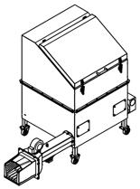 06652834 Automatyczny podajnik do spalania biomasy 1m3 230V 40kW, głowica: żeliwna (paliwo: trociny, wióry, zrębki, kora, brykiet, agrobrykiet, pellet, pestki owoców)