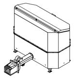 06652838 Automatyczny podajnik do spalania biomasy 2m3 400V 40kW, głowica: żeliwna (paliwo: trociny, wióry, zrębki, kora, brykiet, agrobrykiet, pellet, pestki owoców)