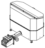 06652852 Automatyczny podajnik do spalania biomasy 2m3 400V 120kW, głowica: żeliwna (paliwo: trociny, wióry, zrębki, kora, brykiet, agrobrykiet, pellet, pestki owoców)