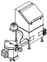 06652913 Automatyczny podajnik do spalania biomasy 0,6m3 230V 30kW, głowica: ceramiczna (paliwo: trociny, wióry, zrębki)