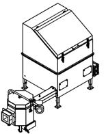 06652914 Automatyczny podajnik do spalania biomasy 1m3 230V 30kW, głowica: ceramiczna (paliwo: trociny, wióry, zrębki)