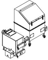 06652953 Automatyczny zestaw do spalania biomasy 1m3 230V 30kW, głowica: żeliwna, z systemem usuwania popiołu (paliwo: trociny, wióry, zrębki, kora, brykiet, agrobrykiet, pellet, pestki owoców)
