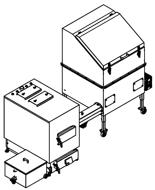 06652969 Automatyczny zestaw do spalania biomasy 1m3 400V 60kW, głowica: żeliwna, z systemem usuwania popiołu(paliwo: trociny, wióry, zrębki, kora, brykiet, agrobrykiet, pellet, pestki owoców)