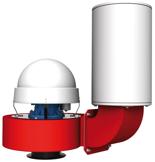 08549368 Wentylator promieniowy dachowy z wylotem pionowym WPA-5-D-3-N 400V (obroty synchroniczne: 3000 1/min, moc: 0,55 kW, wydajność wentylatora: 1900 m3/h)
