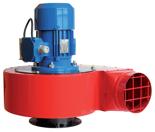 08549480 Wentylator przeciwwybuchowy promieniowy stanowiskowy WPA-5-E/Ex (obroty synchroniczne: 3000 1/min, moc: 0,55 kW, wydajność wentylatora: 1900 m3/h)
