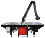 08549612 Urządzenie filtrowentylacyjne, stanowisko warsztatowe spawalnicze z ręcznym uruchamianiem wentylatora filtrowentylacyjnym z filtrem i aparaturą elektryczną bez ramion odciągowych ERGO-STW-3D (moc: 1,5 kW, wydajność: 2000 m3/h)