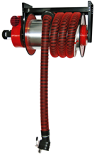 08549655 Odsysacz spalin, bęben odsysacza z napędem sprężynowym, zestawem wężowym, stoperem gumowym - bez ssawki, wentylatora i wyłącznika silnikowego ALAN-U/C-8 (długość węża: 8m, średnica: 100mm)