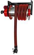 08549688 Odsysacz spalin, bęben odsysacza z napędem sprężynowym, przepustnicą, zestawem wężowym, stoperem gumowym - bez ssawki, wentylatora i wyłącznika silnikowego ALAN/P-U/C-8 (długość węża: 8m, średnica: 125mm)