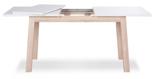 11260826 Nowoczesny stół Stockholm 140-190cm (kolor: biały, dąb snoma)