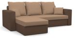 11260940 Narożnik z funkcją spania i poduszkami, pianka (wymiary: 235x140 cm)