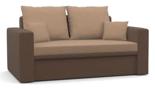 11260950 Sofa z funkcją spania i poduszkami, pianka (wymiary: 152x87 cm)