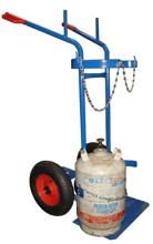 13340555 Wózek dwukołowy spawalniczy do przewozu butli gazowych (nośność: 400 kg)