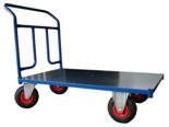 13340581 Wózek platformowy ręczny jednoburtowy 1BKB (koła: pneumatyczne 225 mm, nośność: 250 kg, wymiary: 1000x600 mm)
