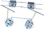 13340628 Zestaw transportowy, rolki poliamidowe (nośność: 10 T)