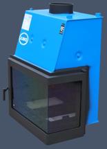 17031544 Wkład kominkowy Enka 18kW Wiktor Prawy UZ - do układów zamkniętych ciśnieniowych zabezpieczonych do 2,5 bar z płaszczem wodnym (prawa boczna szyba)