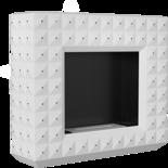 18049861 Biokominek EGZUL SWAROVSKI biały mat