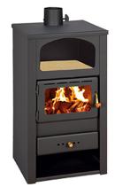 23055308 Piec wolnostojący 10kW na drewno, brykiet, węgiel (średnica rury dymnej: 130mm)
