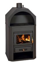 23055346 Piec wolnostojący 15kW na drewno i węgiel (górny wylot spalin: 130mm)