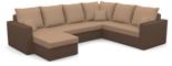 25460943 Narożnik z funkcją spania i poduszkami, sprężyna bonell (wymiary: 290x235 cm)