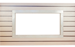 30041594 Rama portalowa MILA dąb bielony - wenge / ramka crema / 8 cm
