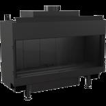 30047787 Wkład kominkowy na gaz 4,3-9,2kW LEO 100 na gaz techniczny LPG (szyba prosta)