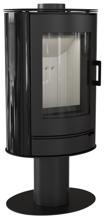 30055010 Piec wolnostojący koza 8kW AB STAL NOGA z wylotem spalin fi 150 (z panelami kaflowymi - czarny)