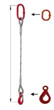33948349 Zawiesie linowe jednocięgnowe miproSling LE 14,00 (długość liny: 1m, udźwig: 14 T, średnica liny: 36 mm, wymiary ogniwa: 275x150 mm)