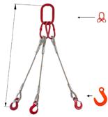 33948423 Zawiesie linowe trzycięgnowe miproSling FW 18,0/12,5 (długość liny: 1m, udźwig: 12,5-18 T, średnica liny: 28 mm, wymiary ogniwa: 275x150 mm)