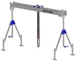 33960047 Wciągarka bramowa aluminiowa z wózkiem pchanym i wciągnikiem łańcuchowym miproCrane DELTA 500H (udźwig: 1000 kg, szerokość: 4100 mm, wysokość: 2740/4440 mm)