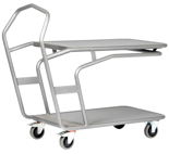 39955509 Wózek platformowy, 2 półki (wymiary: 1278,4x600x1115,3 mm)