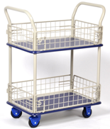39955539 Wózek skrzynkowy, 2 półki (wymiary: 740x480x1230mm)