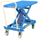 39955552 Wózek platformowy nierdzewny nożycowy ze sprężyną (wysokość podnoszenia: 350x770 mm,wymiary: 813x500mm, udźwig: 210 kg)