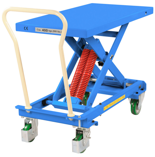39955553 Wózek platformowy nierdzewny nożycowy ze sprężyną (wysokość podnoszenia: 370-790 mm,wymiary: 1010x518mm, udźwig: 400 kg)