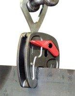44924533 Zacisk półautomatyczny do podnoszenia blach z pierścieniem Tractel® KSA1 0-20 (zacięg chwytu: 0-20mm, udźwig: 1000 kg)