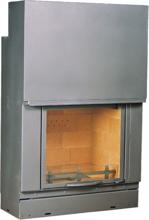 6897292 Wkład kominkowy 10kW SD-F 800 I (kolor drzwi podnoszonych: chrom)