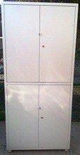 77157283 Szafa narzędziowa, 4 drzwi, 6 regulowanych półek (wymiary: 2000x900x450 mm)
