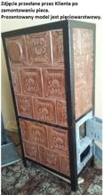 92260184 Piec grzewczy kaflowy 9,5kW Retro pięciowarstwowy na drewno i węgiel (kolor: brązowy)