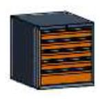 99551578 Szafka typ K, 5 szuflad 150+100+100+100+100 (wymiary: 625x600x690 mm)